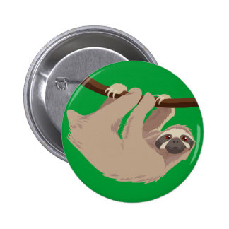 Three Toed Sloth 2 Inch Round Button