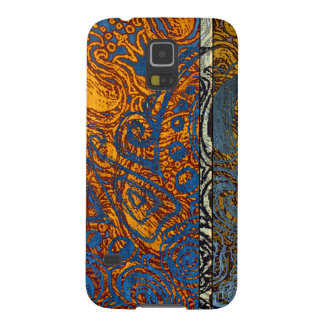 Three Tone Blue Jean Swirl Case For Galaxy S5