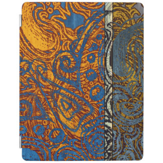 Three Tone Blue Jean Swirl iPad Cover