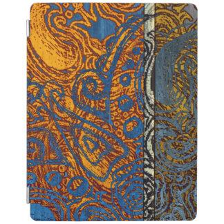 Three Tone Blue Jean Swirl iPad Cover