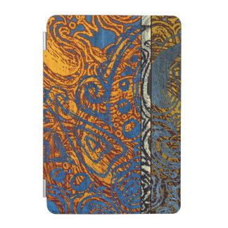 Three Tone Blue Jean Swirl iPad Mini Cover