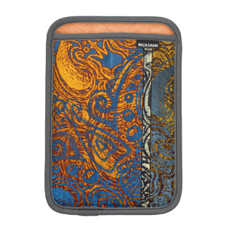 Three Tone Blue Jean Swirl iPad Mini Sleeve