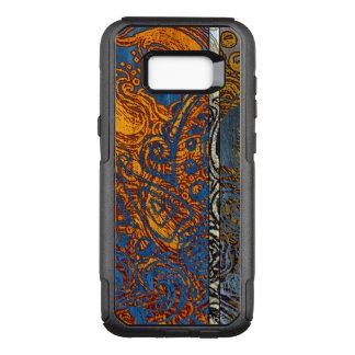 Three Tone Blue Jean Swirl OtterBox Commuter Samsung Galaxy S8+ Case