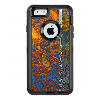 Three Tone Blue Jean Swirl OtterBox Defender iPhone Case