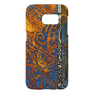 Three Tone Blue Jean Swirl Samsung Galaxy S7 Case