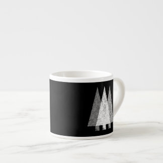 Three Trees in Black and White. Espresso Cup