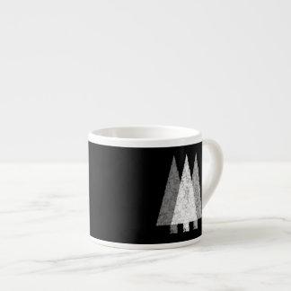 Three Trees in Black and White. Espresso Mug