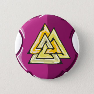 Three Triangles Shield Sketch 2 Inch Round Button