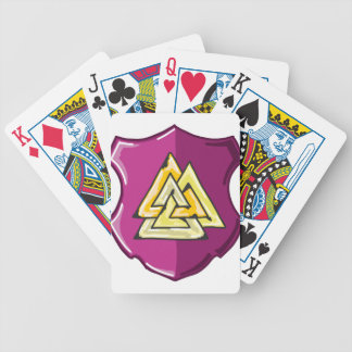 Three Triangles Shield Sketch Bicycle Playing Cards