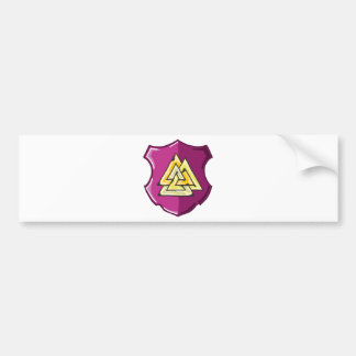 Three Triangles Shield Sketch Bumper Sticker