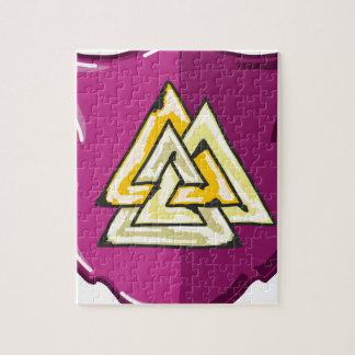 Three Triangles Shield Sketch Jigsaw Puzzle