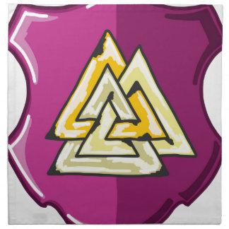 Three Triangles Shield Sketch Napkin