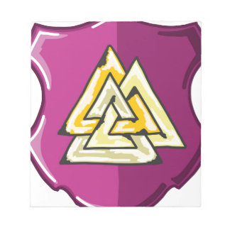 Three Triangles Shield Sketch Notepad