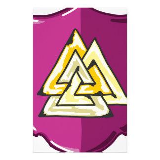 Three Triangles Shield Sketch Stationery