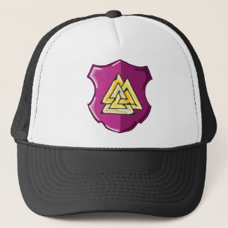 Three Triangles Shield Sketch Trucker Hat