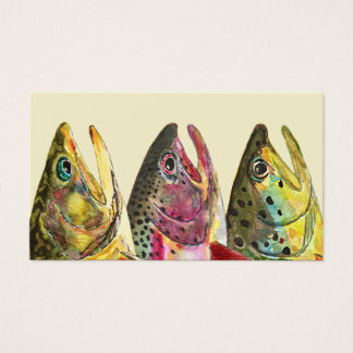 Three Trout Fisherman's Business Card