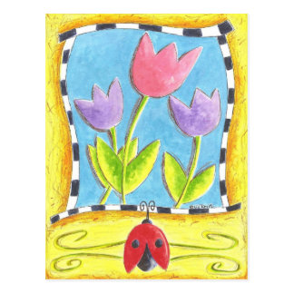 Three Tulips Postcard