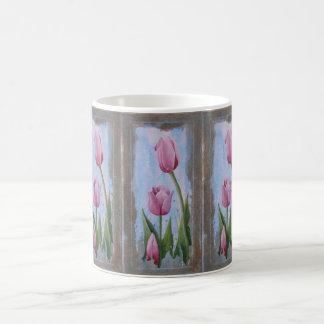 Three Tulips White 11 oz Classic Mug