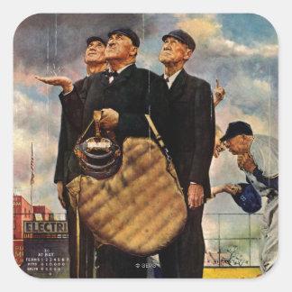Three Umpires Square Sticker