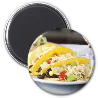 Three Vegetarian Tacos Sticker Magnet