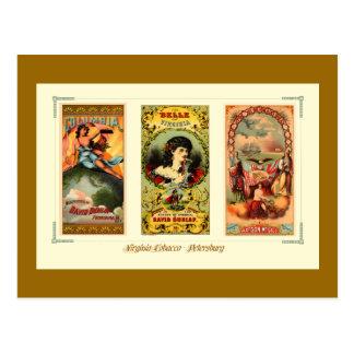 Three Vintage Cigar Labels Virginia Postcard