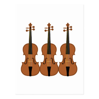 Three Violins Postcard