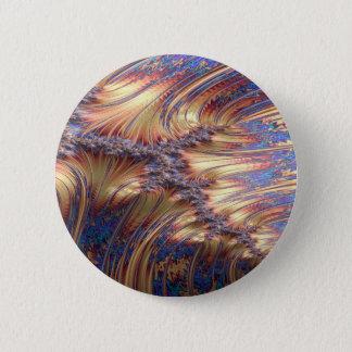 Three-way reflective sunset fractal design 2 inch round button