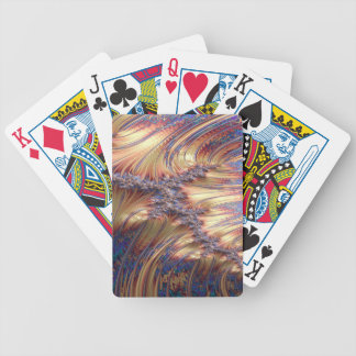 Three-way reflective sunset fractal design bicycle playing cards