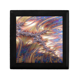 Three-way reflective sunset fractal design gift box