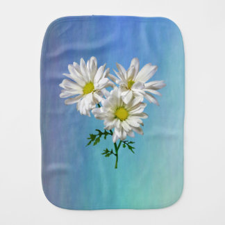 Three White Daisies Burp Cloth