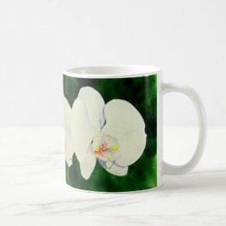 Three white orchids coffee mug