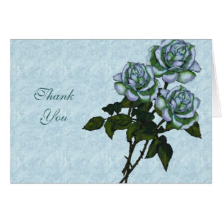 Three White Roses: Color Pencil Art: Floral Card