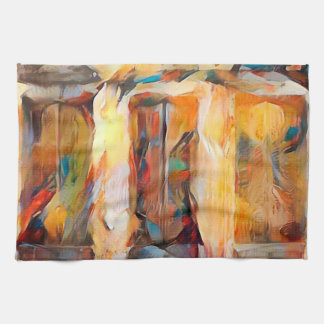 Three Windows of Emotion, abstract expression Kitchen Towel