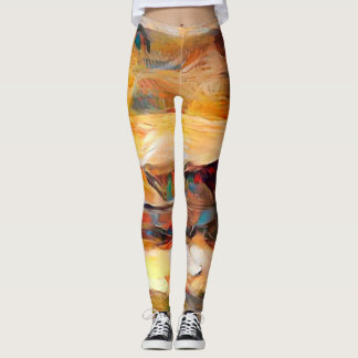 Three Windows of Emotion, abstract expression Leggings