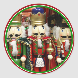 Three Wise Crackers - Nutcracker Soldiers Classic Round Sticker