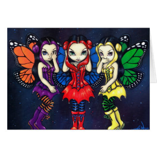 """Three Wise Faeries"" Greeting Card"