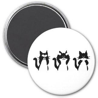 Three Wise Kitties Magnet