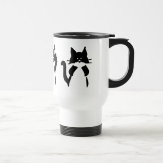 Three Wise Kitties Travel Mug