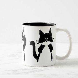 Three Wise Kitties Two-Tone Coffee Mug