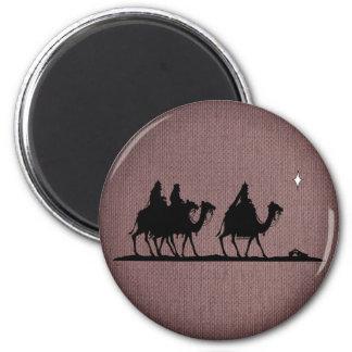 Three Wise Men 2 Inch Round Magnet