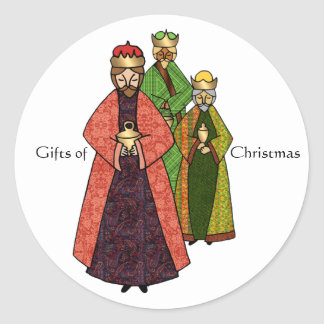 Three Wise Men and the Gifts of Christmas Classic Round Sticker