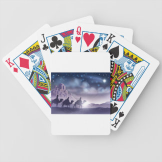 Three Wise Men Nativity Christmas Illustration Bicycle Playing Cards