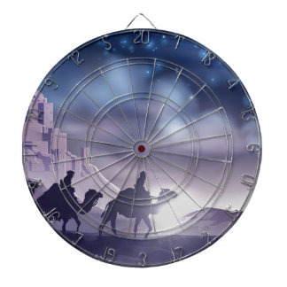 Three Wise Men Nativity Christmas Illustration Dartboard