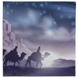 Three Wise Men Nativity Christmas Illustration Napkin