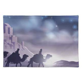 Three Wise Men Nativity Christmas Illustration Placemat