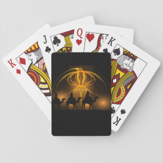 three wise men playing cards