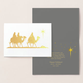 Three Wise Men Silhouette Gold ID424 Foil Card