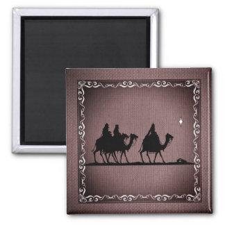 Three Wise Men Square Magnet