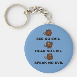 Three Wise Monkeys Key Chains