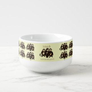 Three Wise Monkeys Soup Mug